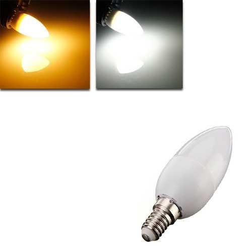 E14 2835 SMD 3W White/Warm White LED Candle Bulb Lamp AC 200-240V