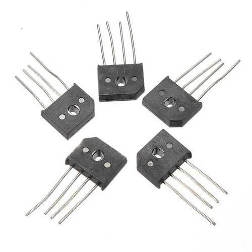 5Pcs 10A 1000V KBU1010 Single Phases Diode Rectifier Bridge IC Chip