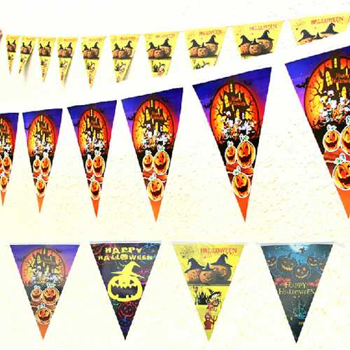 Halloween Decoration Props Halloween Triangle Pennant Flags