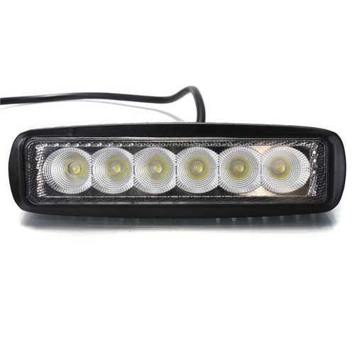 18W 6 LED Work Light Daytime Running Driving DRL for SUV ATV Boat DC 10-30V