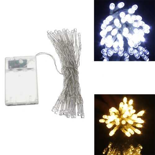 AA Battery Mini 10 LEDs Cool/Warm White Christmas String Fairy Lights