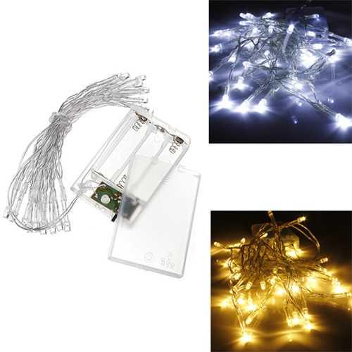 AA Battery Mini 20 LEDs Cool/Warm White Christmas String Fairy Lights
