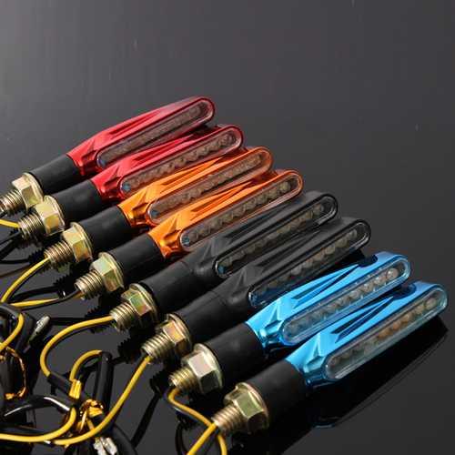 2pcs 9 LED 12V Motorcycle Turn Signal Indicator Lights Amber Lamp Universal