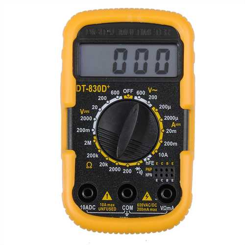 DT 830D+ Portable 2Inch Mini Digital Multimeter With Battery