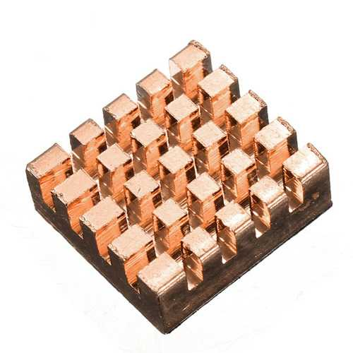 30 Pcs Pure Copper Heat Sink Cooling Fin Kit For Raspberry Pi
