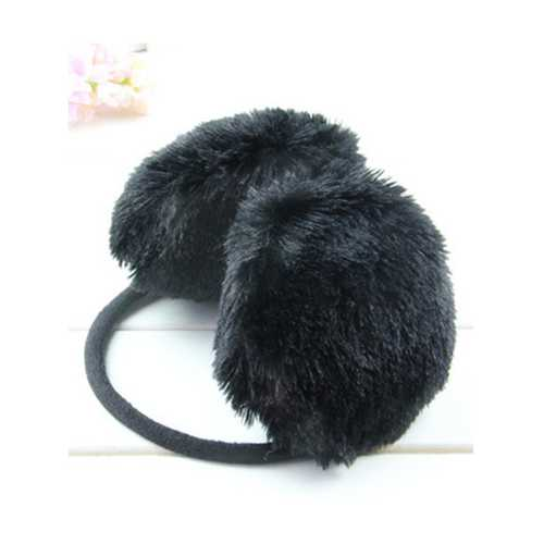 Women Winter Warm Ear Protector Fur Solid Color Ear Muffs