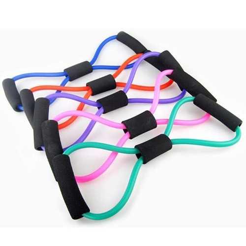 5Pcs Yoga 8-shaped Resistance Band Tube Body Building Fitness Tool