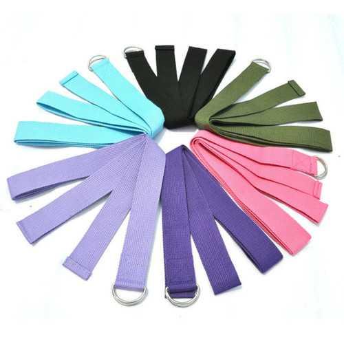 5Pcs Yoga Stretch Strap D-Ring Belt Stretching Band
