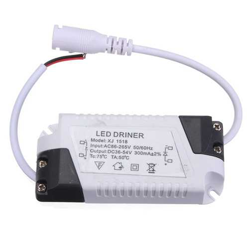 18W LED Driver Transformer Power Supply For Bulbs AC86-265V