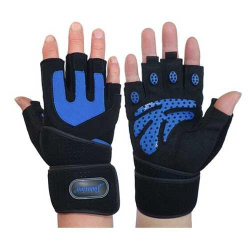 Gym Training Wrist Wrap Glove Weight Lifting Sport Mesh Gloves