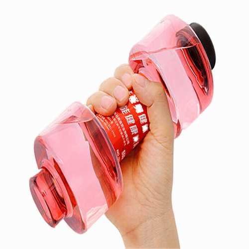 550ml Portable Dumbbell Yoga Dumbbell Water Bottle Leak-proof Cup