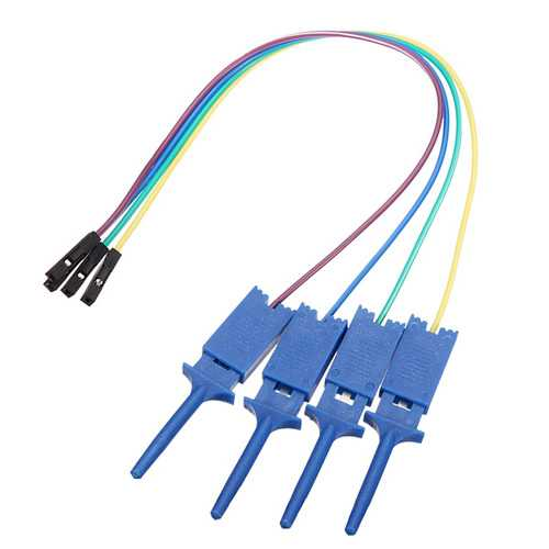 12Pcs Test Clamp Wire Hook Test Clip for Logic Analyzer