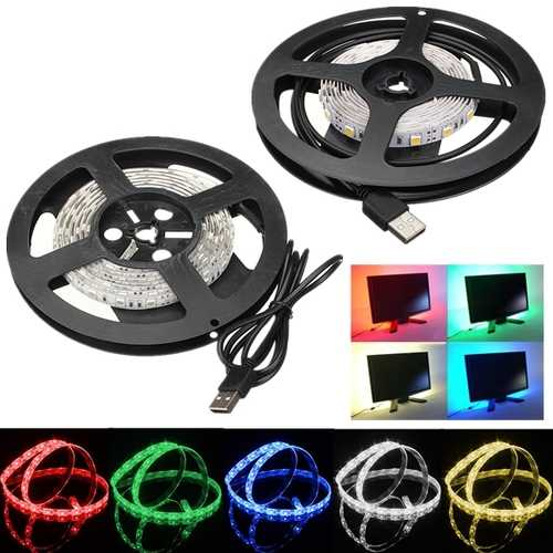 100cm Waterproof LED Strip Light TV Background Light With 5V USB Cable