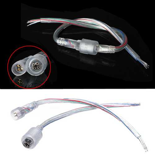 LED Light Strip Male to Female 4 Pin Adapter Waterproof Cable Cord