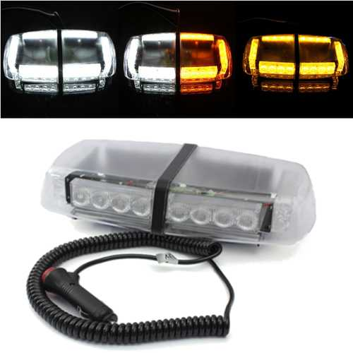 24LED Car Emergency Warning Strobe Light Lamp Magnetic Base 12V