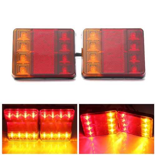 12V LED Van Truck Trailer Stop Rear Tail Brake Light Indicator Lamp