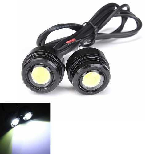 2pcs 12V 3W Motorcycle LED Daylight Daytime Running Fog Lamp