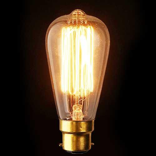B22 ST64 110V/220V 40W Vintage Edison Style Filament Incandescent Bulb