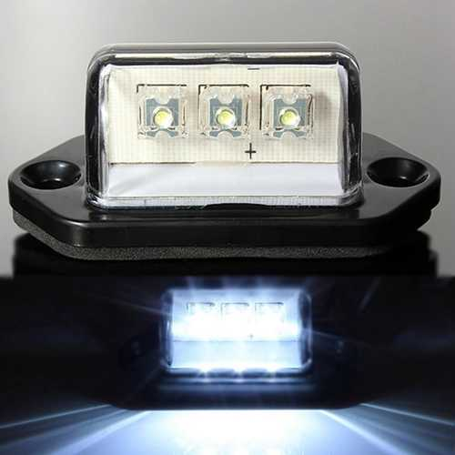 LED License Number Plate Lights Lamp 10-30V White 1PCS For Car Truck Tail Trailer