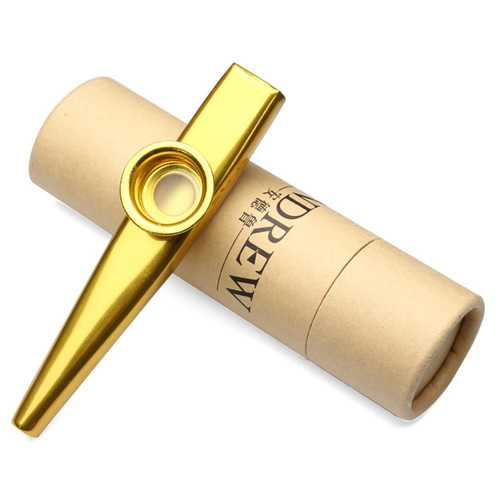 Andrew Metal Kazoo Best Companion With Ukulele Guitar Gold