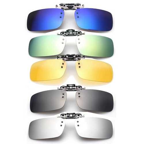 Polarized Clip On Sun Glassess Sun Glassess Driving Night Vision Lens