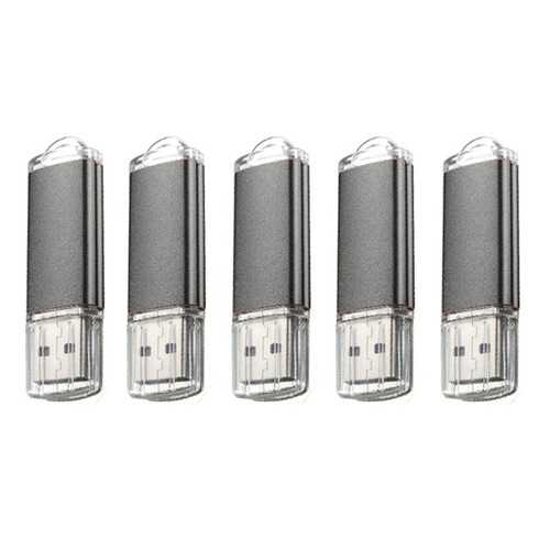 5 x 128MB USB 2.0 Flash Drive Candy Black Memory Storage Thumb U Disk