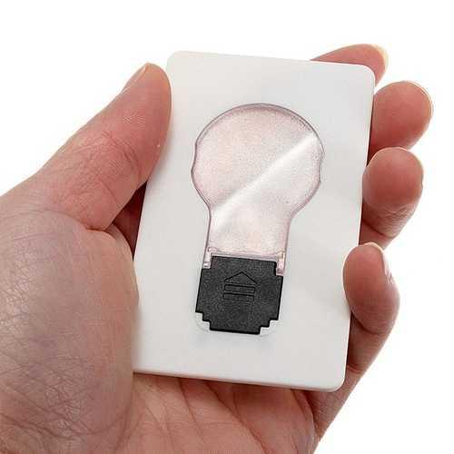 2pcs Portable LED Card Light Pocket Lamp Purse Wallet Emergency Light