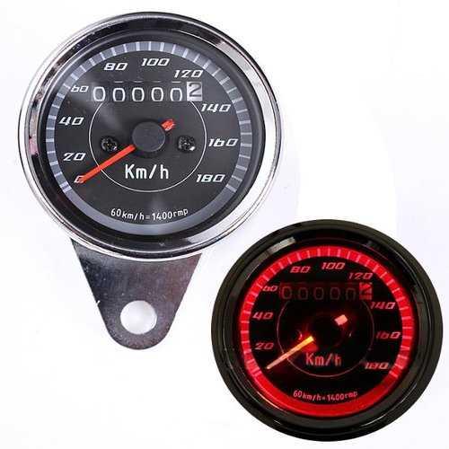 12V Universal Motorcycle Odometer Speedometer Gauge