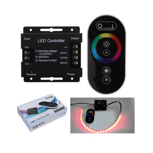 12V Touch Dimmable Remote Wireless RF Controller For Led RGB Strip