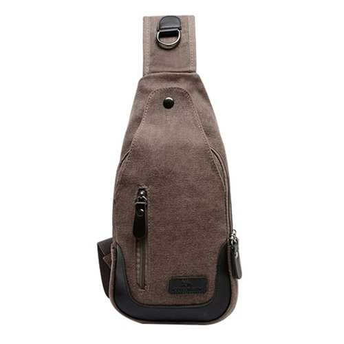Men Women Retro Canvas Messenger Bag Shoulder Bag Chest Pack