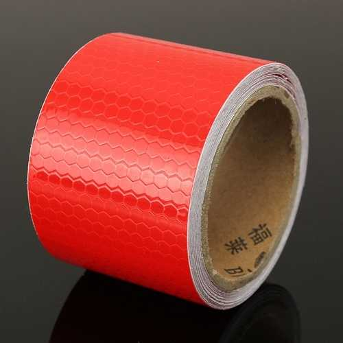 3m Long Red Reflective Safety Warning Conspicuity Tape Film Sticker
