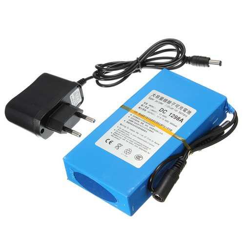 DC12V 4500mAh Super Rechargeable Portable Lithium Battery EU Plug