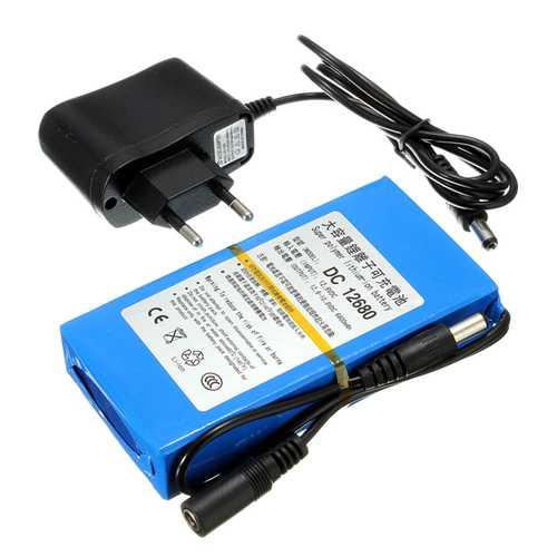 DC12V 3000mAh Super Rechargeable Portable Lithium Battery EU Plug