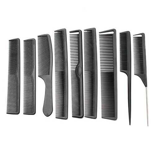 Carbon Fiber Hairdressing Anti Static Heat Resistant Hair Comb Set