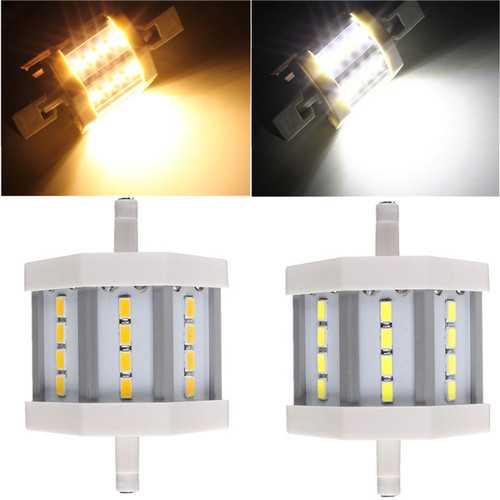 Dimmable R7S 5W 78mm 12 LEDs AC 220V White/Warm White LED Light Bulb