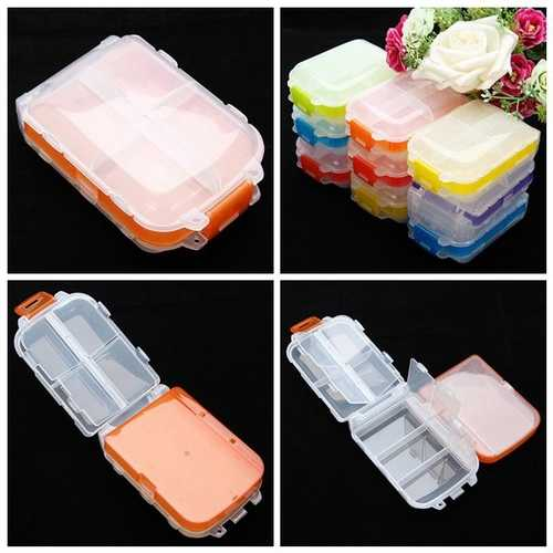 1Pcs Plastic Nail Tips Storage Case Jewelry Container Box
