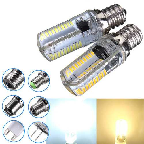 Dimmable E12 3W White/Warm White 3014SMD LED Bulb Silicone 220-240V