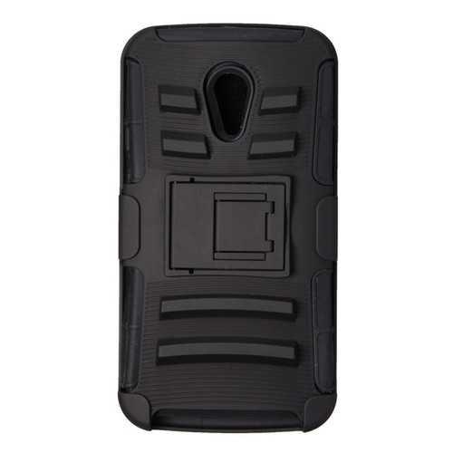 Hybrid Armor Slide Belt Hard Case For Motorola Moto G2 G+1