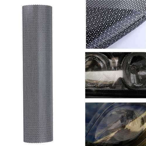 106x28cm Tinting Perforated Mesh Film Fly-Eye Tint Headlight Rear Lamp