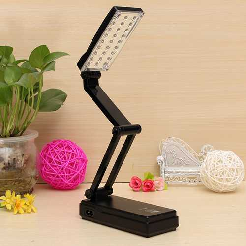 27 LED Foldable Rechargeable Study Table Desk Lamp Light Touch Control