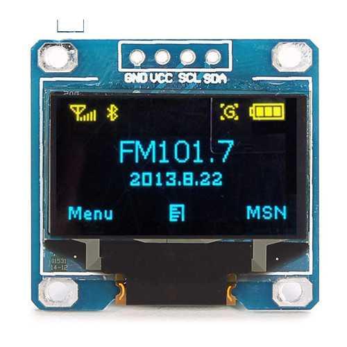 0.96 Inch 4Pin Blue Yellow IIC I2C OLED Display Module For
