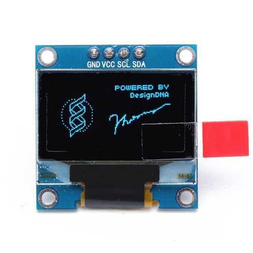 0.96 Inch 4Pin IIC I2C SSD136 128x64 DC 3V-5V Blue OLED Display Module