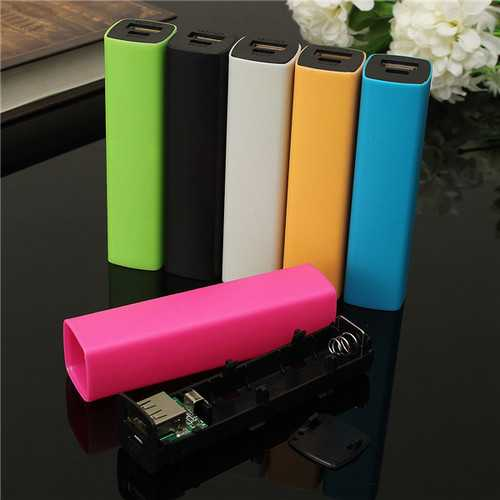 2600mAh 5V 1A USB Power Bank Case Charger DIY Box For iPhone