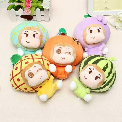 18CM Plush Cartoon Fruit Monkey Toy Stuffed Gift