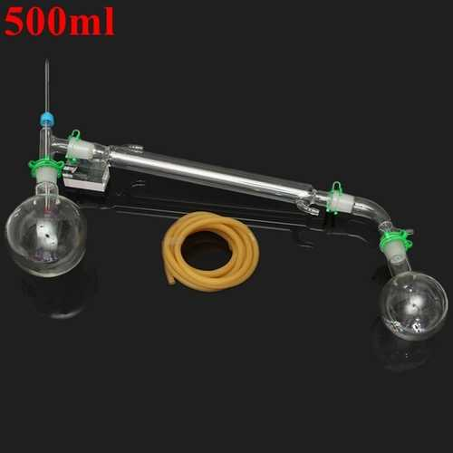 500mL 24/29 Joint Vacuum Distillation Extraction Laboratory Glass Apparatus Set Lab Glassware Kit