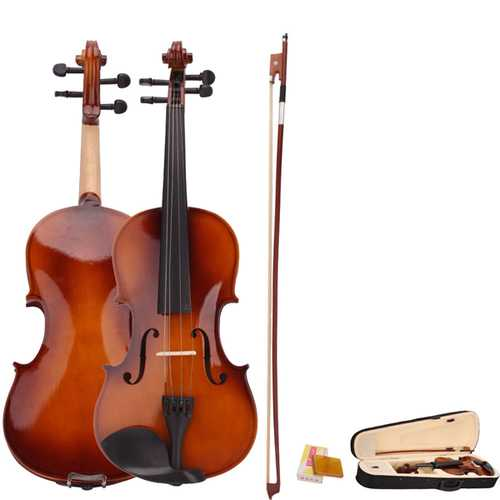4/4 Acoustic Violin with Case Bow Rosin for Violin Beginner