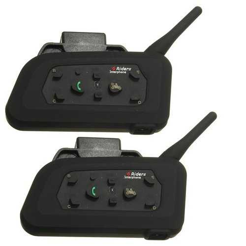 2pcs 1000M Motorcycle Helmet Intercom Headset with bluetooth Function