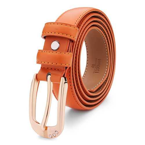 115CM Womens Belt Cowhide Diamond Genuine Leather Pin Buckle Strip