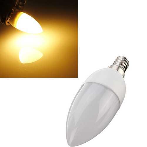 5XE14 2835 SMD 3W Warm White LED Candle Bulb Lamp AC 200-240V