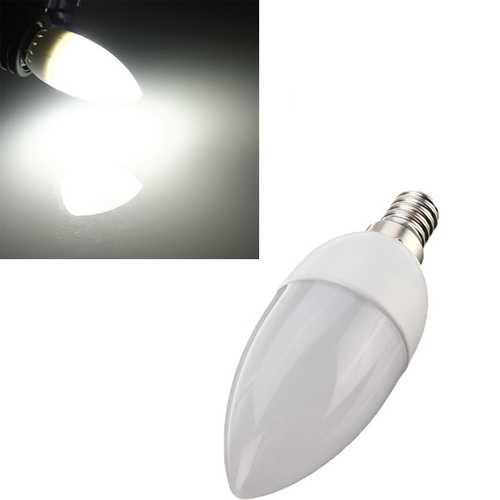 10XE14 2835 SMD 3W White LED Candle Bulb Lamp AC 200-240V